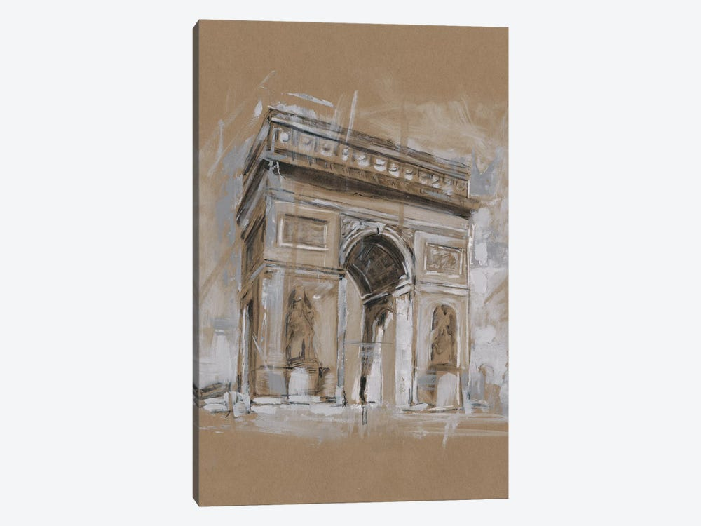 Brushwork Architecture Study I by Ethan Harper 1-piece Canvas Wall Art