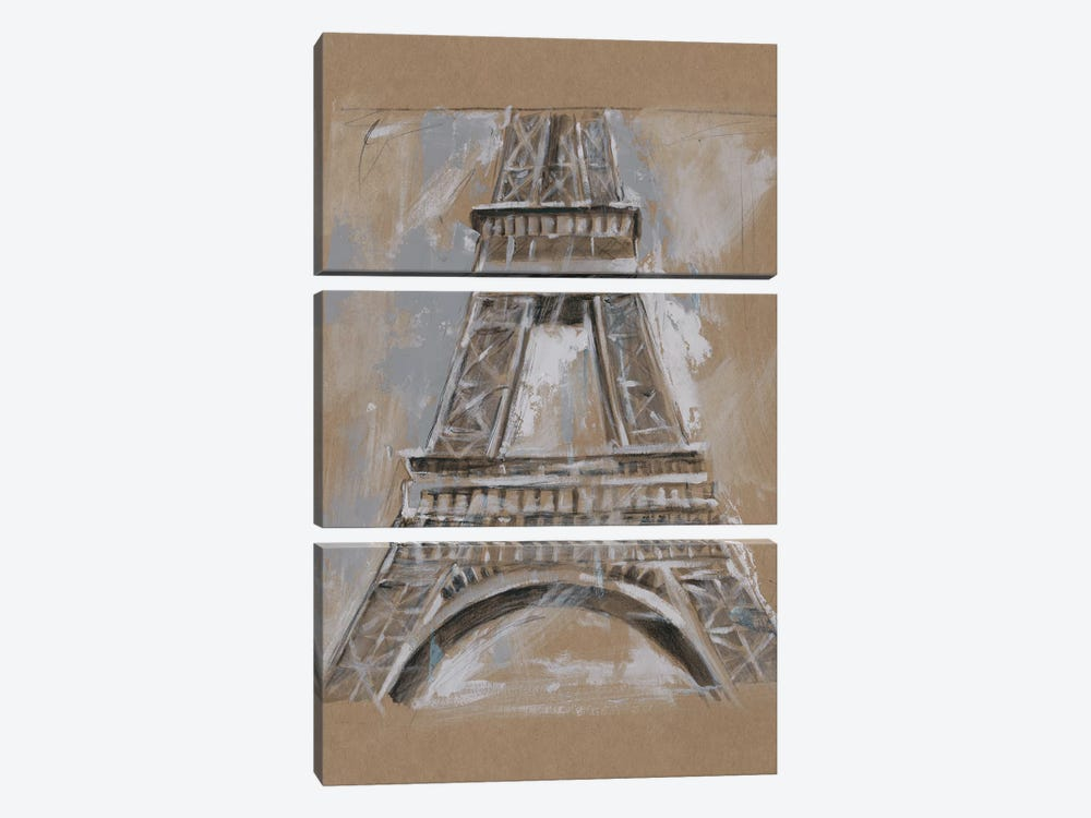 Brushwork Architecture Study II by Ethan Harper 3-piece Canvas Print