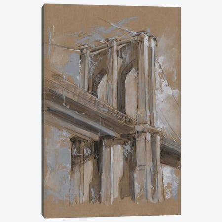Brushwork Architecture Study III Canvas Print #EHA473} by Ethan Harper Art Print