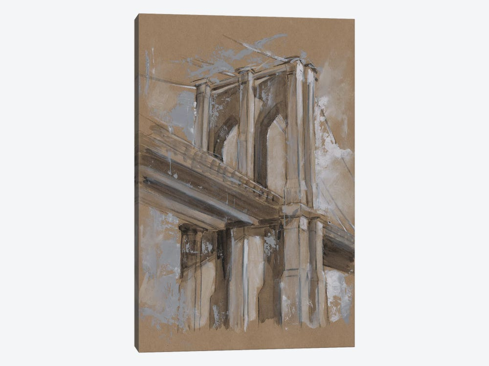 Brushwork Architecture Study III by Ethan Harper 1-piece Canvas Art