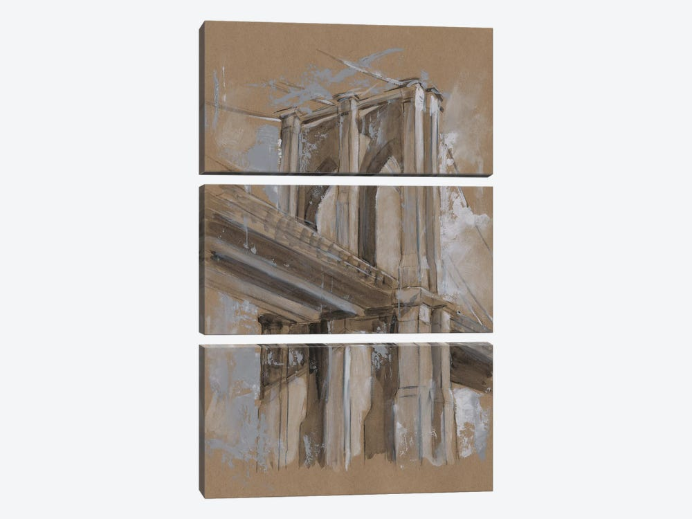 Brushwork Architecture Study III by Ethan Harper 3-piece Canvas Wall Art