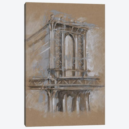 Brushwork Architecture Study IV Canvas Print #EHA474} by Ethan Harper Canvas Artwork