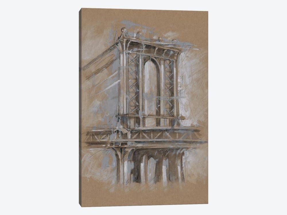 Brushwork Architecture Study IV by Ethan Harper 1-piece Canvas Art Print
