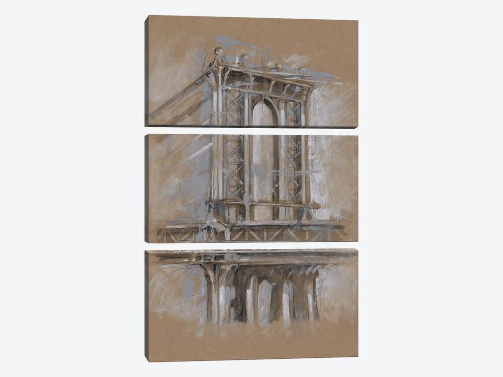 Brushwork Architecture Study IV by Ethan Harper 3-piece Canvas Art Print