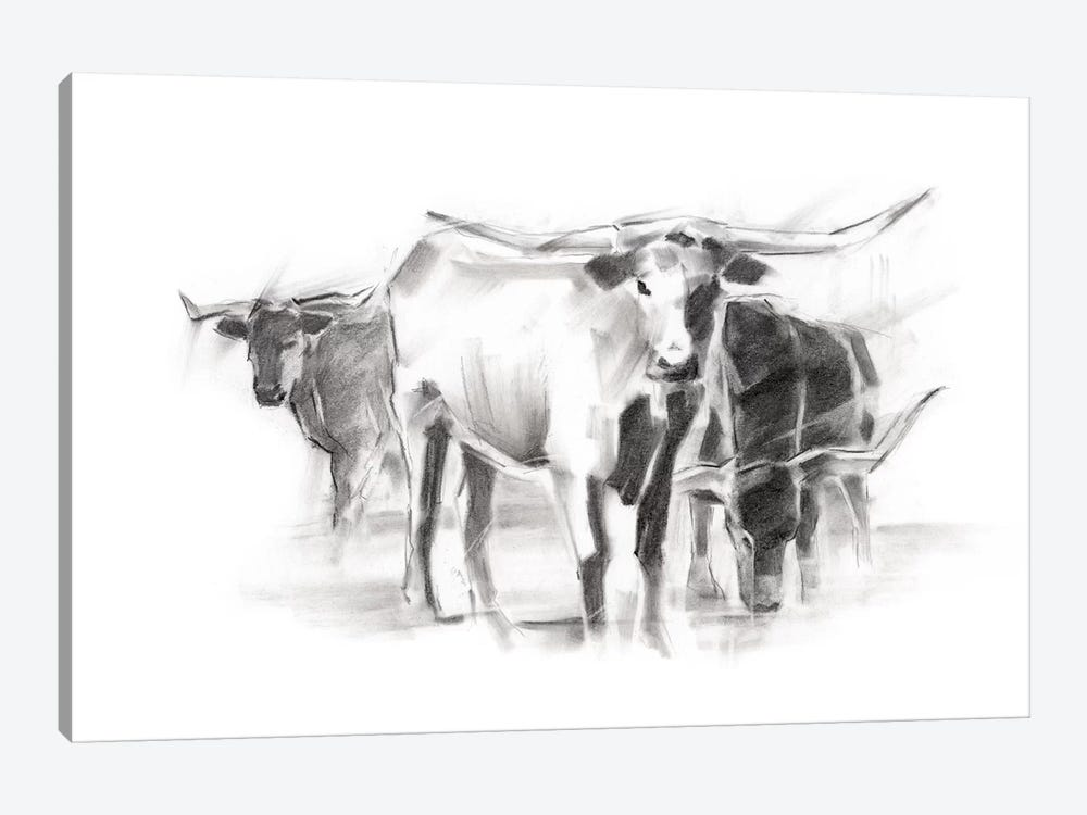 Contemporary Cattle II by Ethan Harper 1-piece Canvas Print
