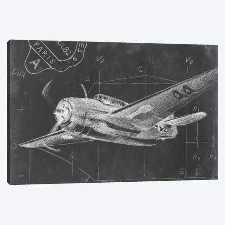 Flight Schematic II Canvas Print #EHA47} by Ethan Harper Canvas Wall Art