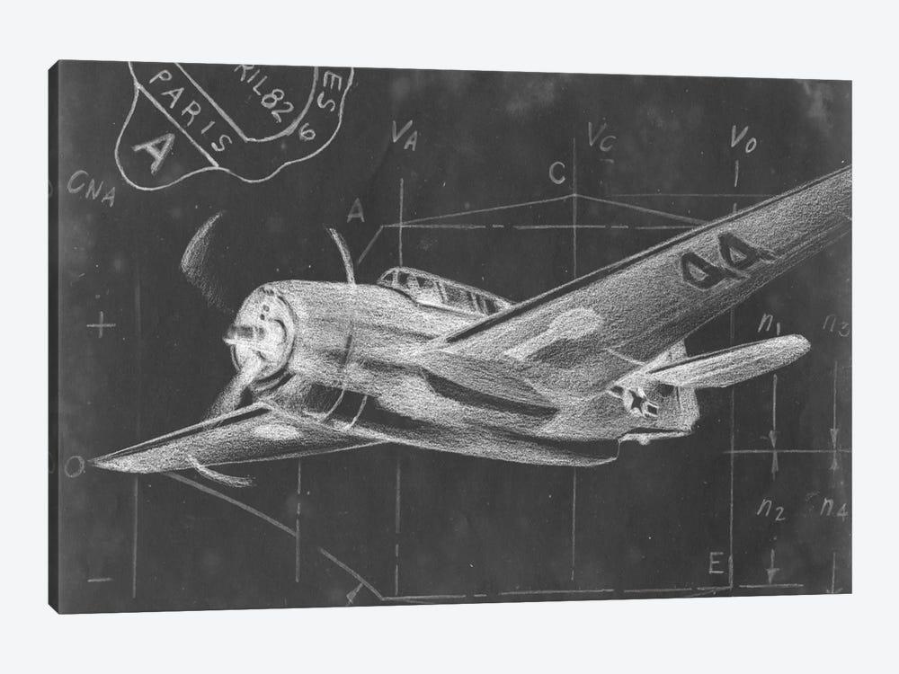 Flight Schematic II by Ethan Harper 1-piece Canvas Print