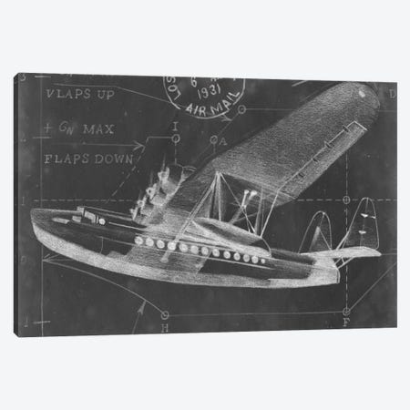 Flight Schematic III Canvas Print #EHA48} by Ethan Harper Canvas Art Print