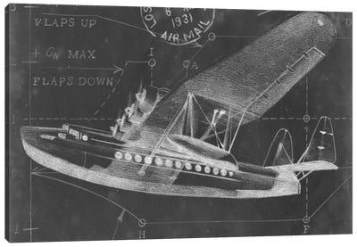 Flight Schematic III Canvas Art Print