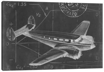 Flight Schematic IV Canvas Print #EHA49