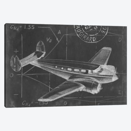 Flight Schematic IV Canvas Print #EHA49} by Ethan Harper Canvas Art Print