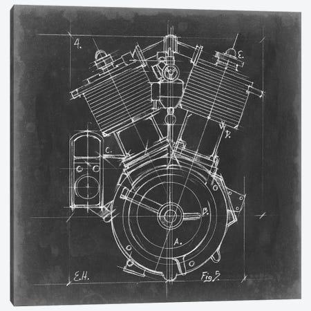 Motorcycle Engine Blueprint IV Canvas Print #EHA502} by Ethan Harper Canvas Print