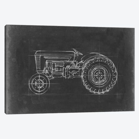 Tractor Blueprint I Canvas Print #EHA513} by Ethan Harper Canvas Wall Art