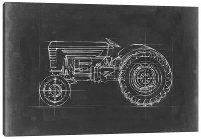 Tractor Blueprint I Canvas Art Print
