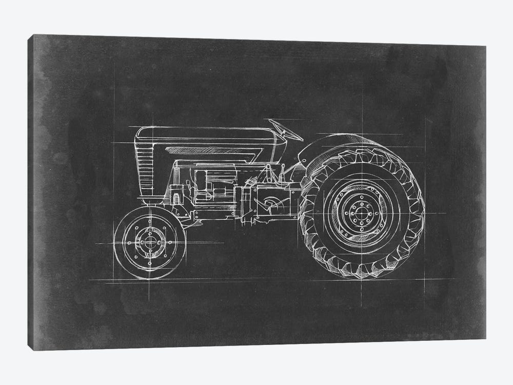 Tractor Blueprint I by Ethan Harper 1-piece Canvas Art Print