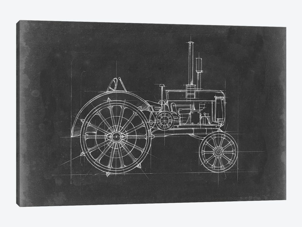 Tractor Blueprint II by Ethan Harper 1-piece Canvas Wall Art