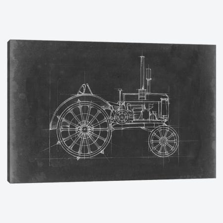 Tractor Blueprint II 3-Piece Canvas #EHA514} by Ethan Harper Canvas Art Print
