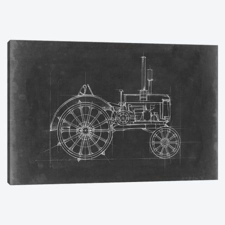 Tractor Blueprint II Canvas Print #EHA514} by Ethan Harper Canvas Art Print