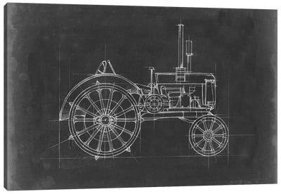 Tractor Blueprint II Canvas Art Print