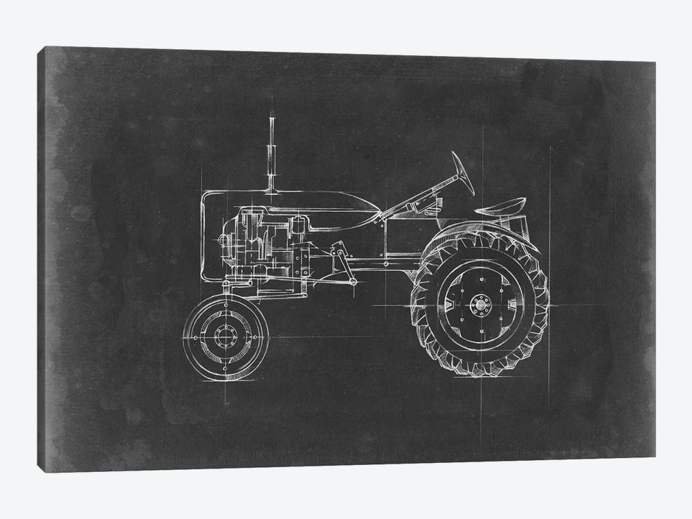 Tractor Blueprint III by Ethan Harper 1-piece Canvas Art Print