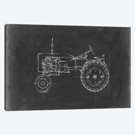 Tractor Blueprint III 3-Piece Canvas #EHA515} by Ethan Harper Art Print