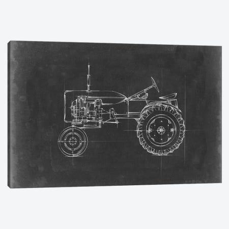 Tractor Blueprint III Canvas Print #EHA515} by Ethan Harper Art Print