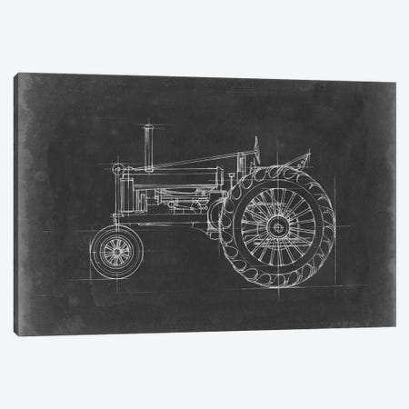 Tractor Blueprint IV 3-Piece Canvas #EHA516} by Ethan Harper Art Print
