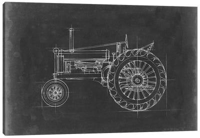 Tractor Blueprint IV Canvas Art Print