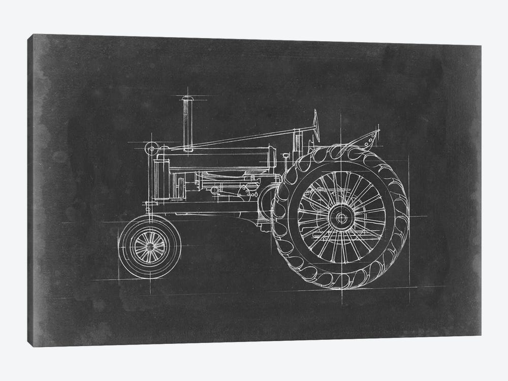 Tractor Blueprint IV by Ethan Harper 1-piece Canvas Wall Art