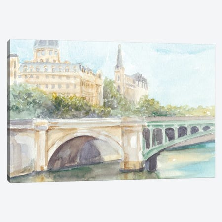 French Bridge Study IV 3-Piece Canvas #EHA534} by Ethan Harper Canvas Print