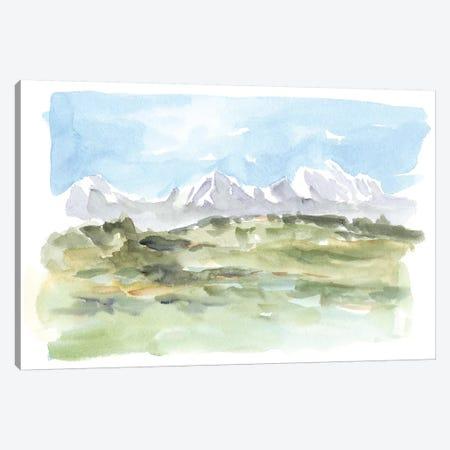 Mountain Watercolor I Canvas Print #EHA539} by Ethan Harper Canvas Wall Art