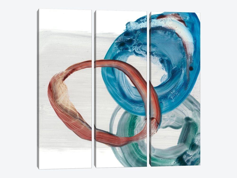 Overlapping Rings I by Ethan Harper 3-piece Canvas Art
