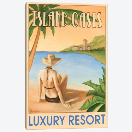 Island Oasis Canvas Print #EHA54} by Ethan Harper Art Print