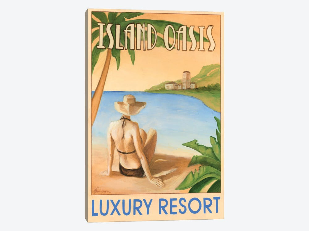 Island Oasis by Ethan Harper 1-piece Canvas Print