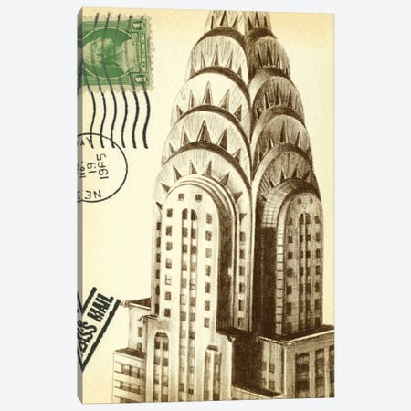Letters To New York I Canvas Print #EHA55} by Ethan Harper Art Print