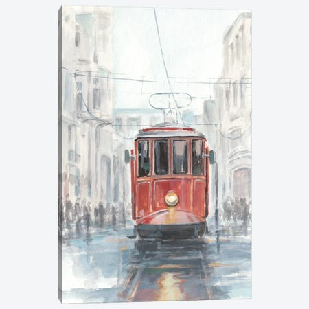 Watercolor Streetcar Study I Canvas Print #EHA566} by Ethan Harper Canvas Artwork