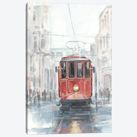Watercolor Streetcar Study I Canvas Print #EHA566} by Ethan Harper Canvas Artwork