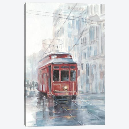 Watercolor Streetcar Study II Canvas Print #EHA567} by Ethan Harper Canvas Art