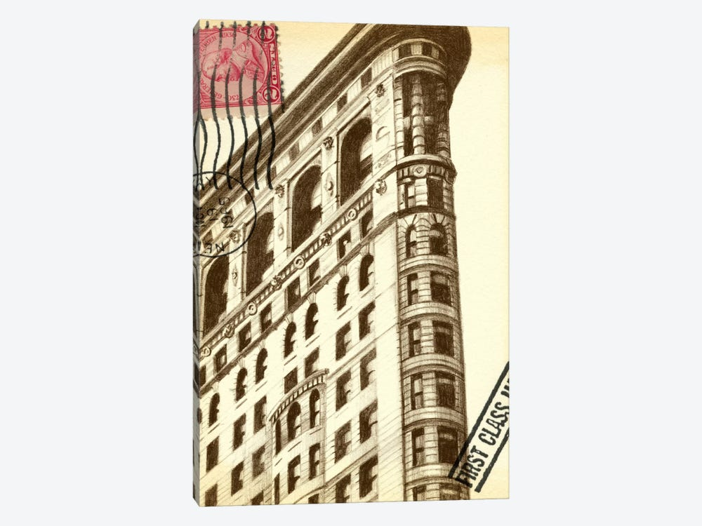 Letters To New York II by Ethan Harper 1-piece Canvas Art Print