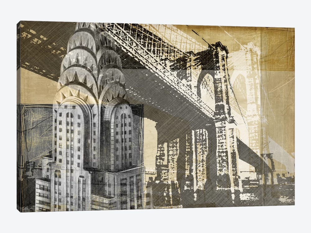 Metropolitan Collage I by Ethan Harper 1-piece Canvas Art