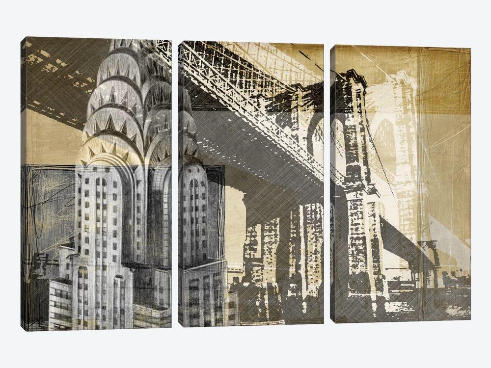 Metropolitan Collage I by Ethan Harper 3-piece Canvas Artwork