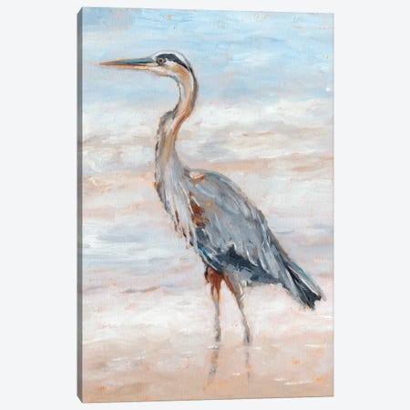 Beach Heron II Canvas Print #EHA585} by Ethan Harper Canvas Artwork