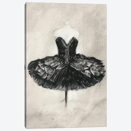 Black Ballet Dress I Canvas Print #EHA586} by Ethan Harper Canvas Wall Art