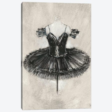 Black Ballet Dress II Canvas Print #EHA587} by Ethan Harper Canvas Wall Art