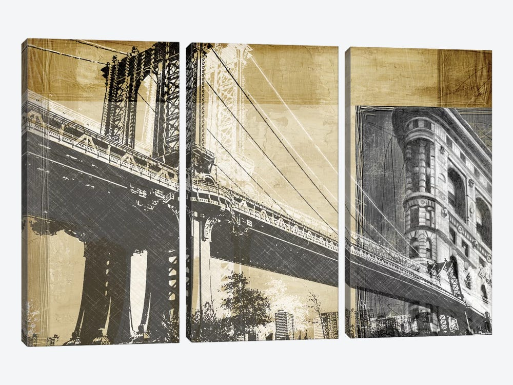 Metropolitan Collage II by Ethan Harper 3-piece Canvas Art Print