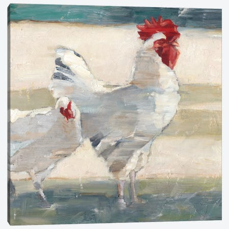 Chicken Yard I Canvas Print #EHA590} by Ethan Harper Canvas Artwork