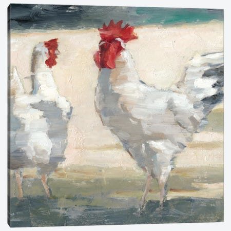 Chicken Yard II 3-Piece Canvas #EHA591} by Ethan Harper Canvas Artwork