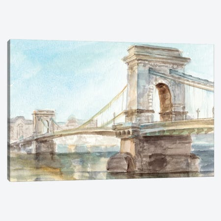 Iconic Watercolor Bridge I Canvas Print #EHA594} by Ethan Harper Canvas Art Print