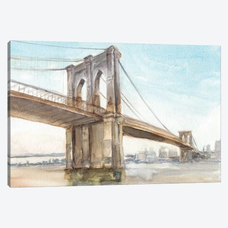 Iconic Watercolor Bridge II Canvas Print #EHA595} by Ethan Harper Canvas Art Print