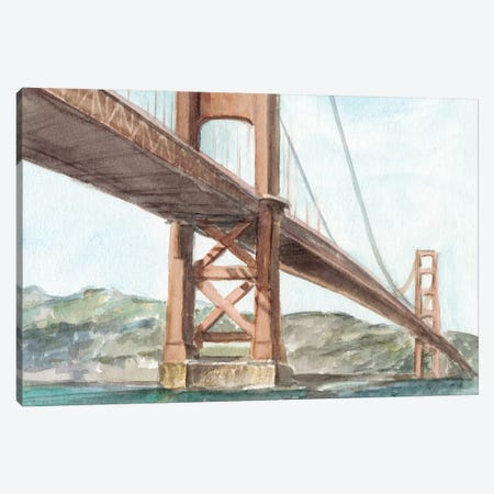 Iconic Watercolor Bridge III Canvas Print #EHA596} by Ethan Harper Canvas Art Print